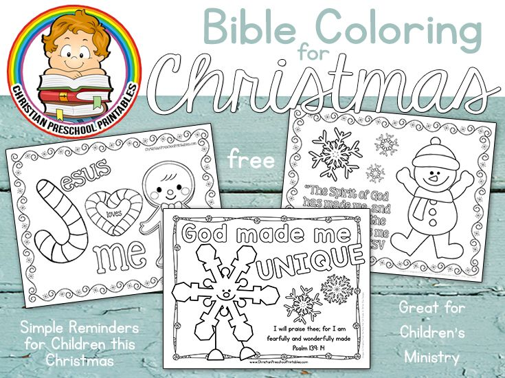 Three adorable Christmas coloring pages for children. Great for ...