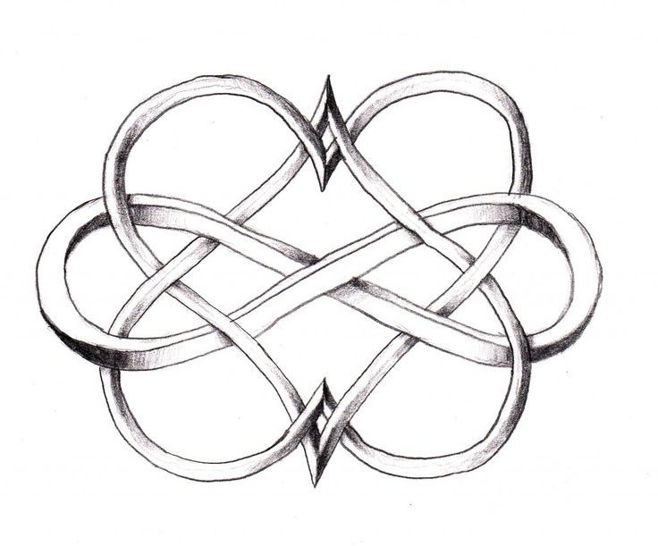 infinity with two hearts tattoo ideas central hearts one color rh pinterest ph Two Hearts Tattoo Designs Tribal Heart Tattoo Designs and Drawings