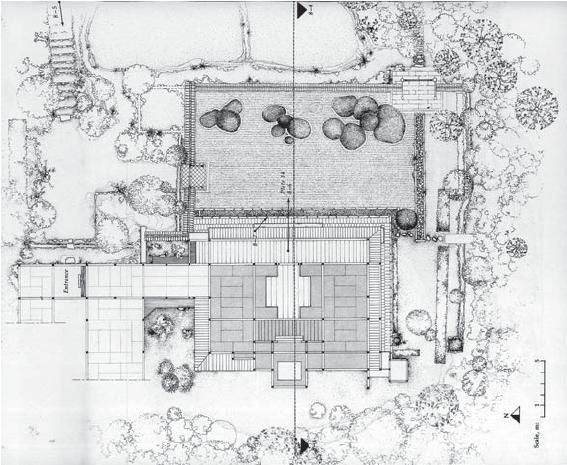 Figure 8. Shōdenji garden plan view, from Bring and