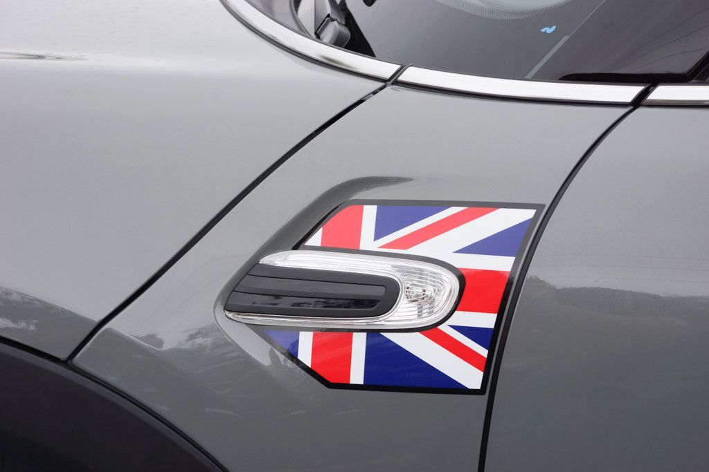 Mini Cooper And Cooper S Hard Top 2014 2015 Union Jack A Panel Decal Kit Red White Blue Union Jack Mini Cooper Red And White