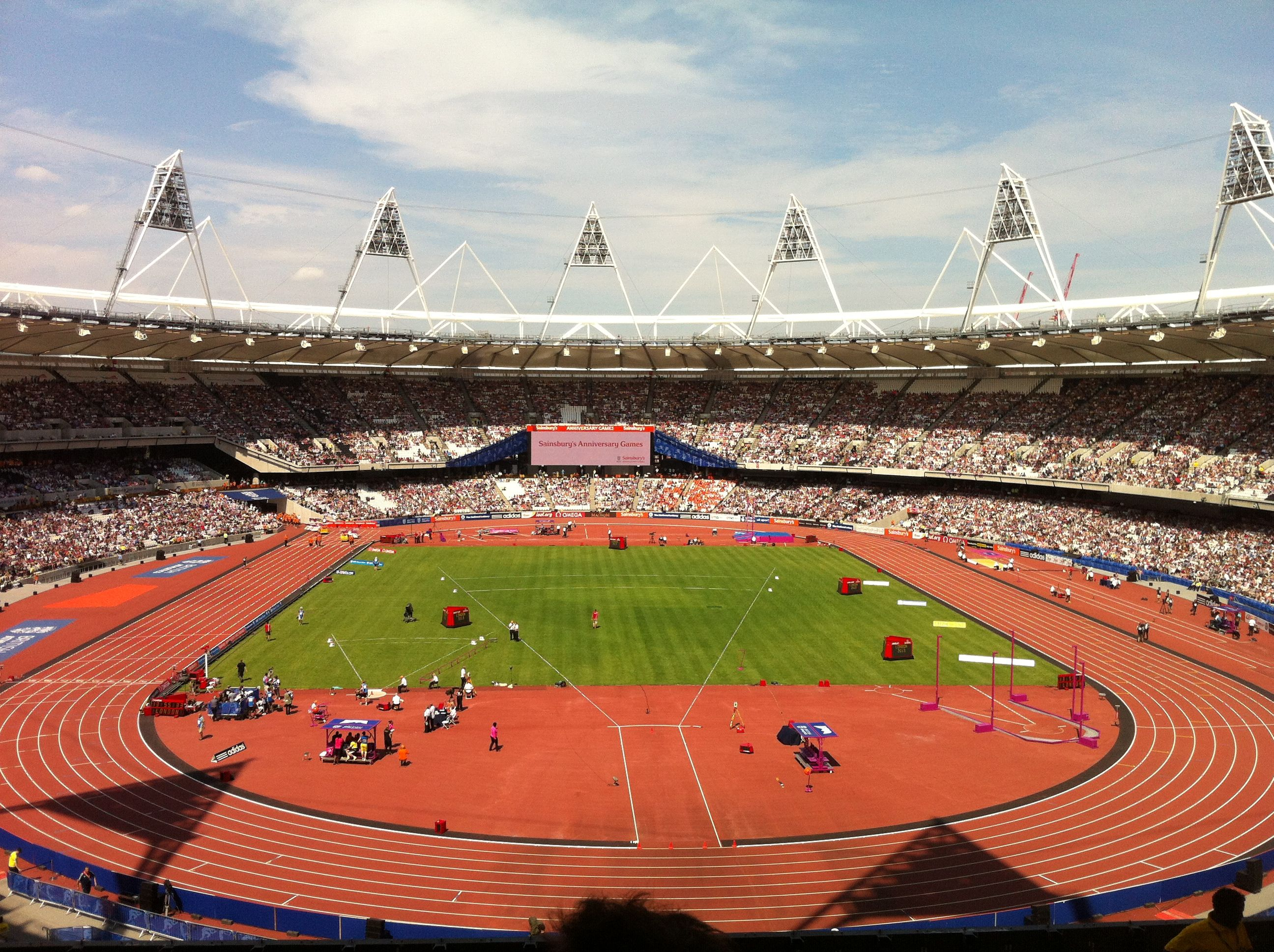 Back at the Olympic park for the anniversary games 2013