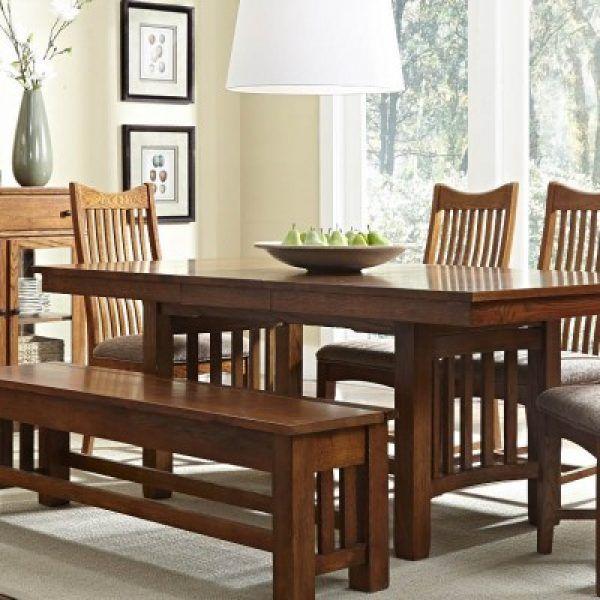 A America Laurelhurst Oa Collection Rustic Oak Dining Table Oak