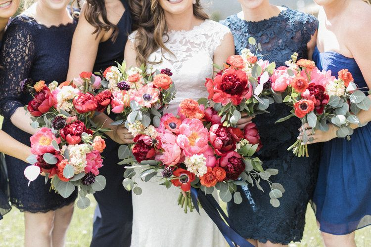 Flowers By Lace And Lilies Colorful Bouquet Bridesmaid Bouquet
