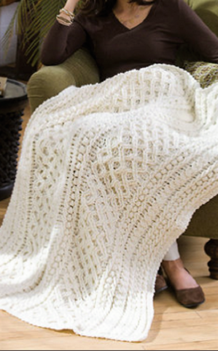 Free Pattern] Wonderful Lattice Weave Crochet Throw | Colchas, Manta ...