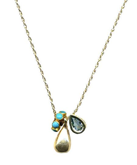 TearDrop and Topaz Necklace - Max & Chloe
