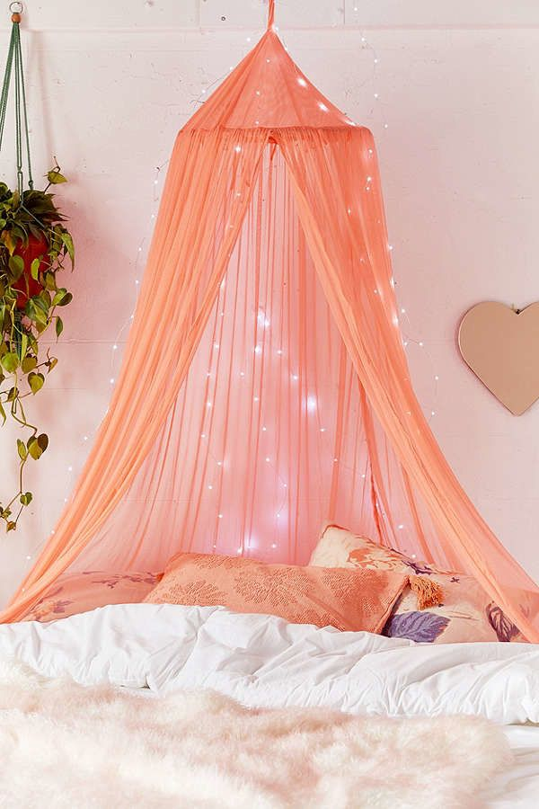 A Mesh Bed Canopy With Princess Vibes Canopy Bedroom Bed Canopy Burgundy Curtains