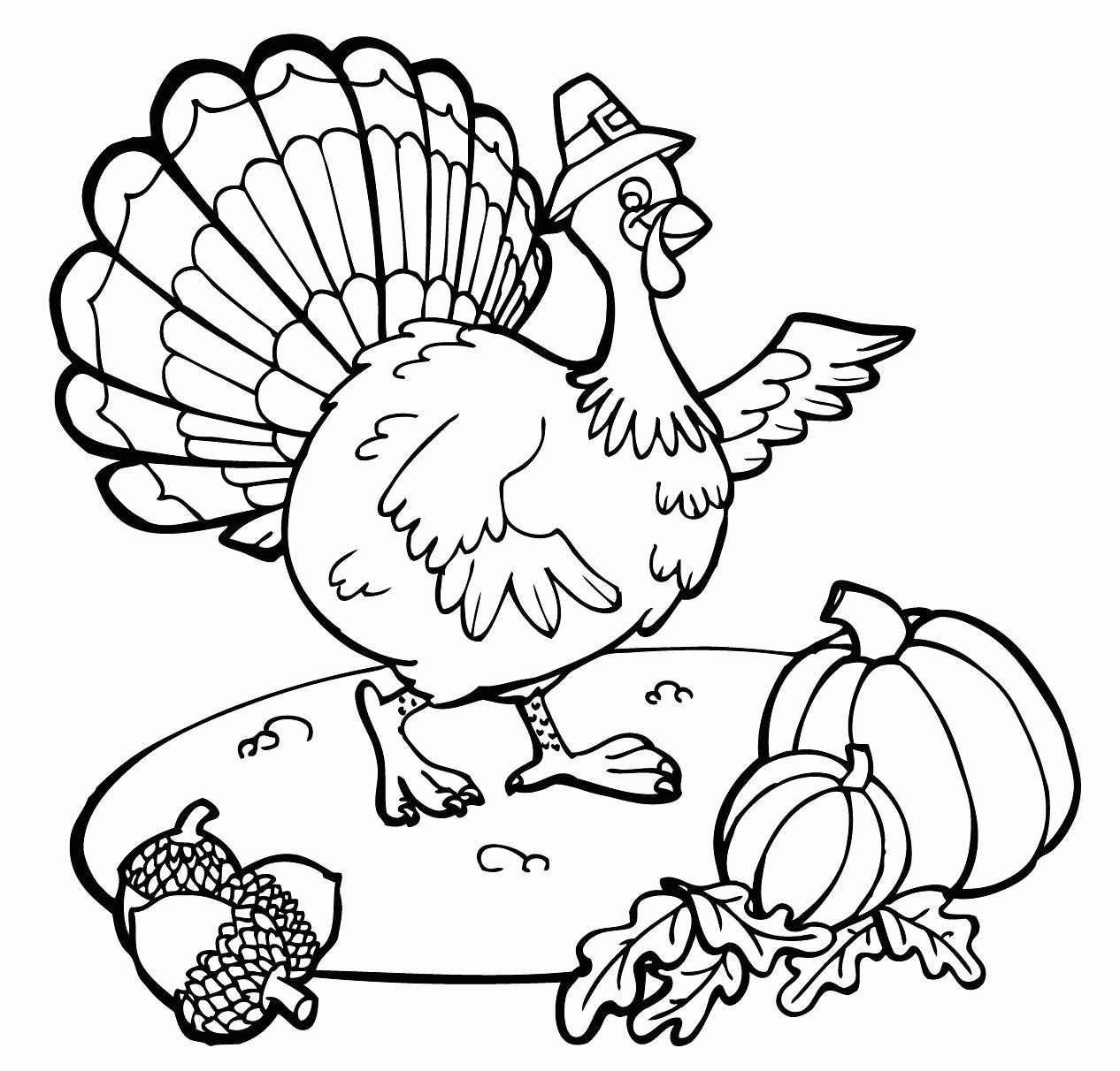 Turkey Coloring Pages For Kindergarten Best Of Thanksgiving