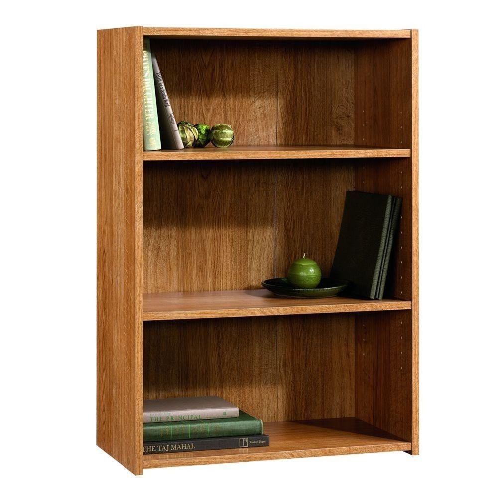 3 Shelf Bookcase Storage Bookshelf Wood Furniture