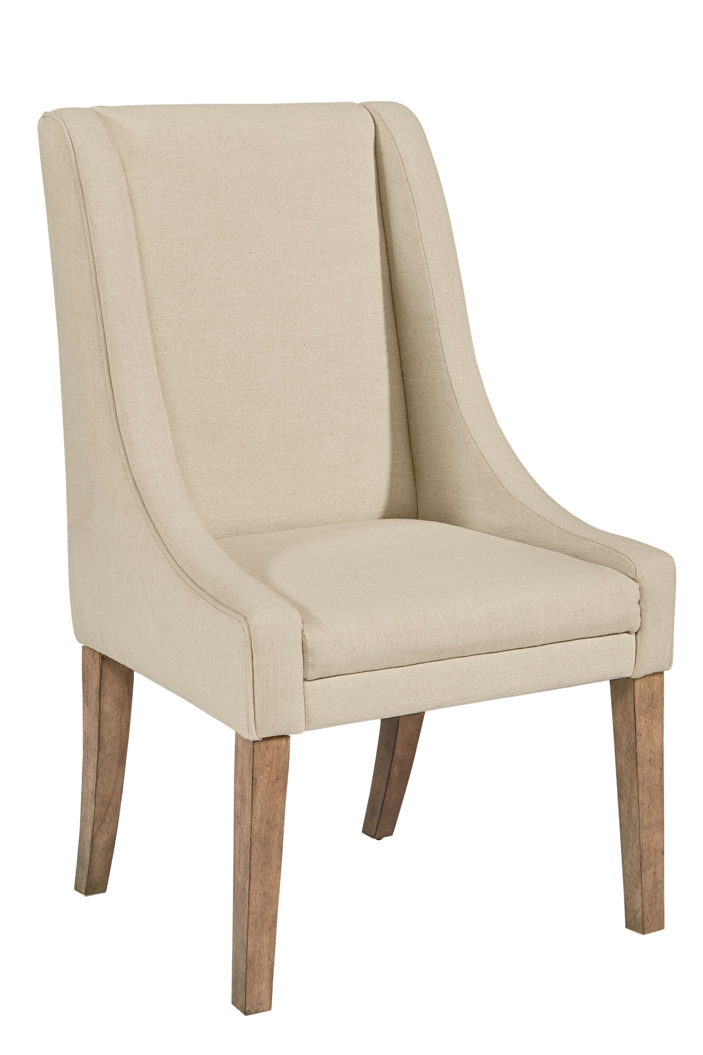 This comfortable Upholstered Demi-Wing Side Chair from Magnolia ...