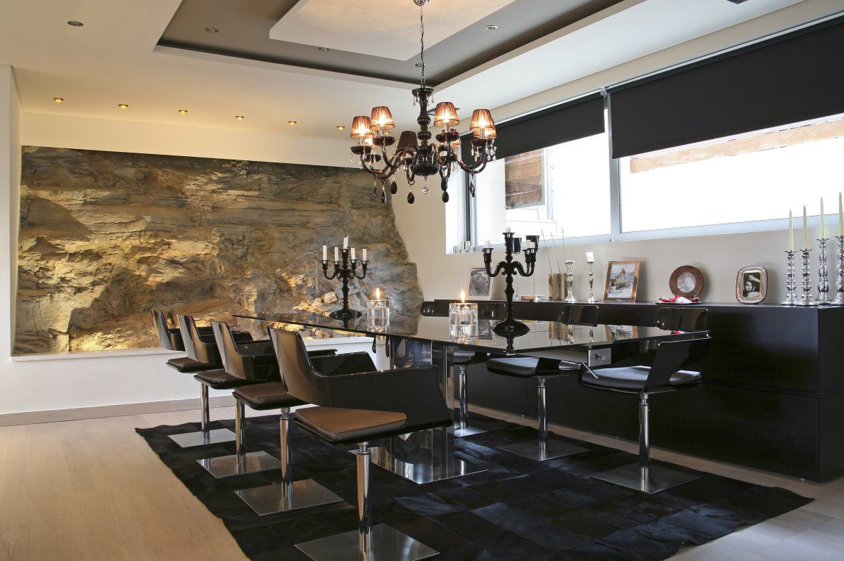 Amazing Dining Rooms I Love That Stone Wall Stunning With The Light Grazing All The