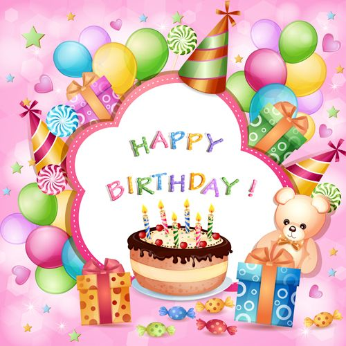 Cartoon Birthday cards design vector 03 – Happy Birthday Card Design Free