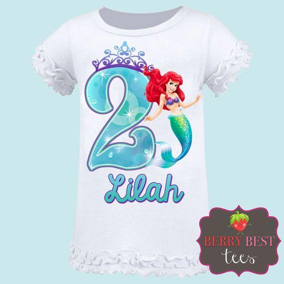 The Little Mermaid Princess Ariel Personalized By BerryBestTees Birthday Parties