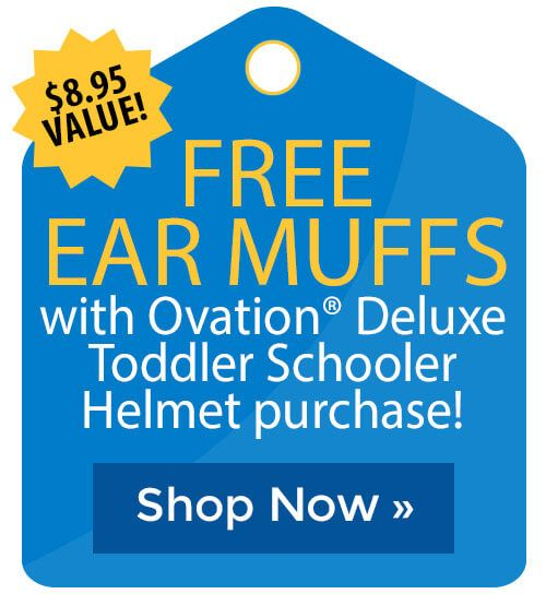 51f4cb768 FREE Ear Muffs with Ovation  Deluxe Toddler Schooler Helmet purchase! Find  this Pin and more on CYBER MONDAY SALES ...