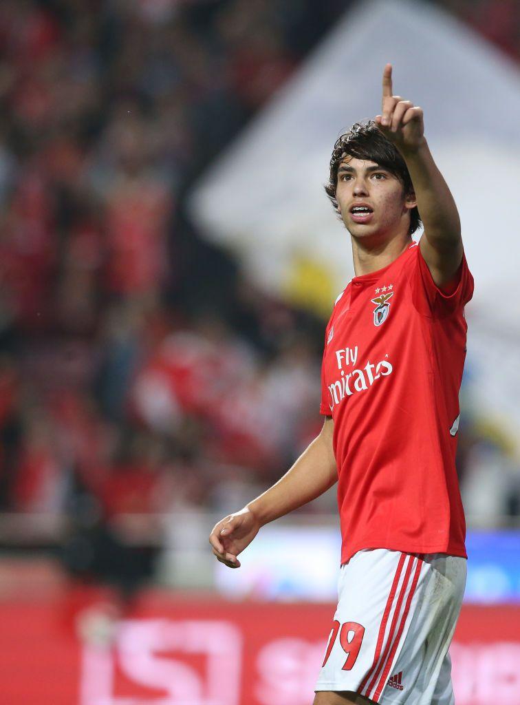 Joao Felix Of Sl Benfica Celebrates After Scoring A Goal During The Felix Benfica Wallpaper Jogadores Do Benfica