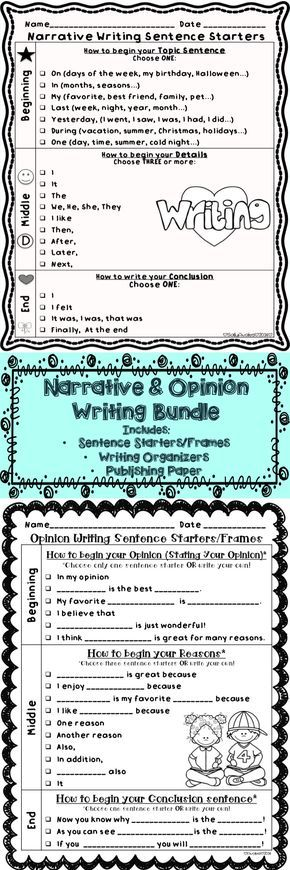 How To Write A Movie Review Essay This Set Of Opinion  Narrative Writing Sentence Startersframes Graphic  Organizers And Publishing Templates Are Perfect To Help Your Little  Writers Write  Punctuality Essays also Essay On Necessity Is The Mother Of Invention Opinion  Narrative Writing Transitions Sentence Starters Bundle  Science And Technology Essay Topics