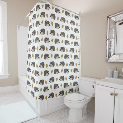 Hedgehog Pattern Shower Curtain
