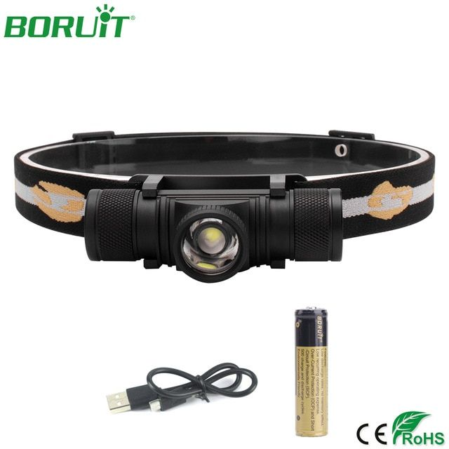 Mini LED Headlamp High Power 1000lm Rechargeable Camping Hunting Waterproof