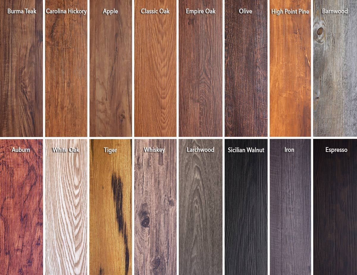 Luxury vinyl flooring planks with wood grain look require for Hardwood decking planks