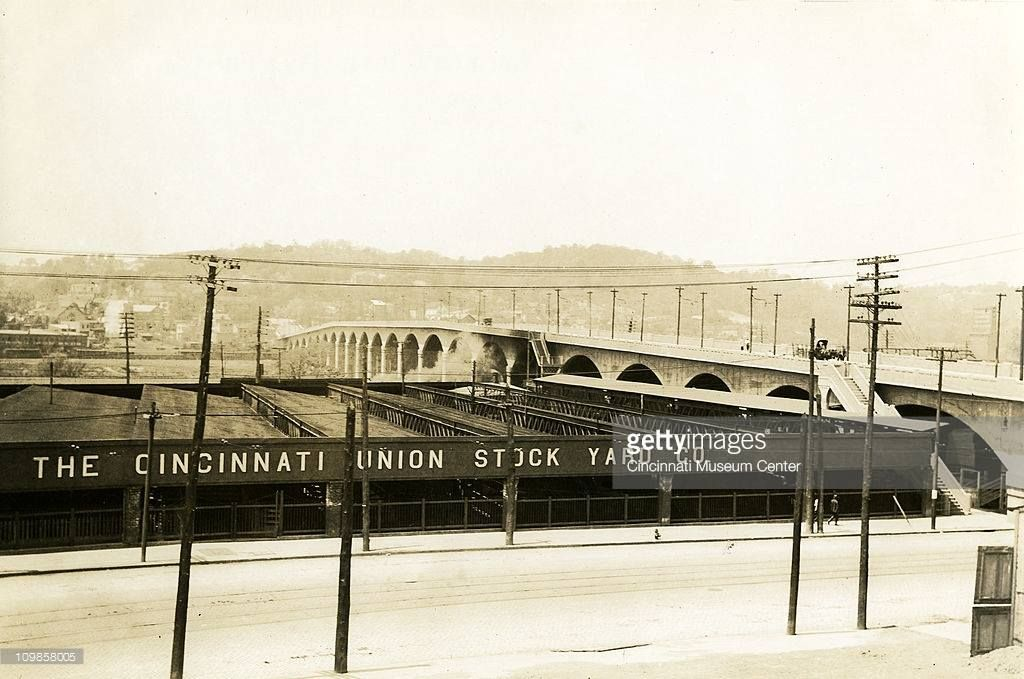 Union Stock Yard Comp. & Hopple St. Viaduct ..early 20th century..
