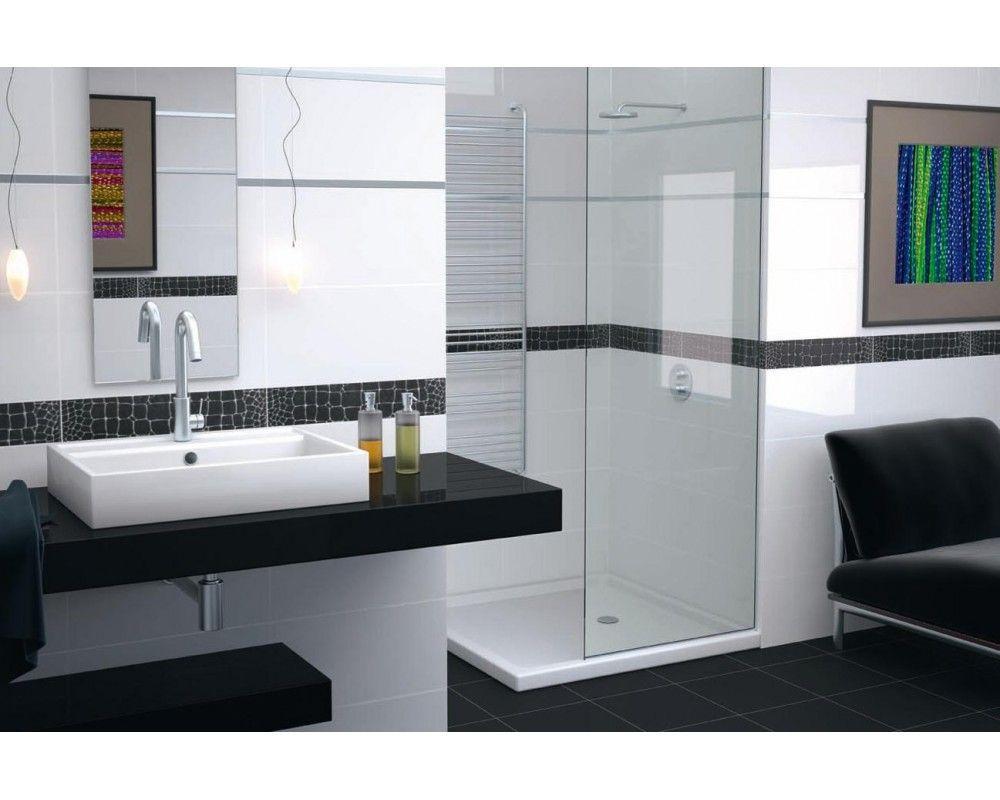 White tiles buscar con google ue4 proy pinterest wall gloss white tile bathroom with matt black tile floor dailygadgetfo Choice Image