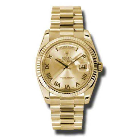Rolex Day-Date Champagne Dial 18K Yellow Gold President Automatic Men's Watch 118238CRP #rolexwatches