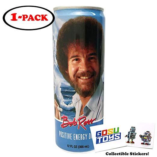 Amazon Com Bob Ross Positive Energy Drink 12 Fl Oz 355ml With 2 Gosutoys Stickers Grocery Gourmet Food Energy Drinks Positive Energy Energy