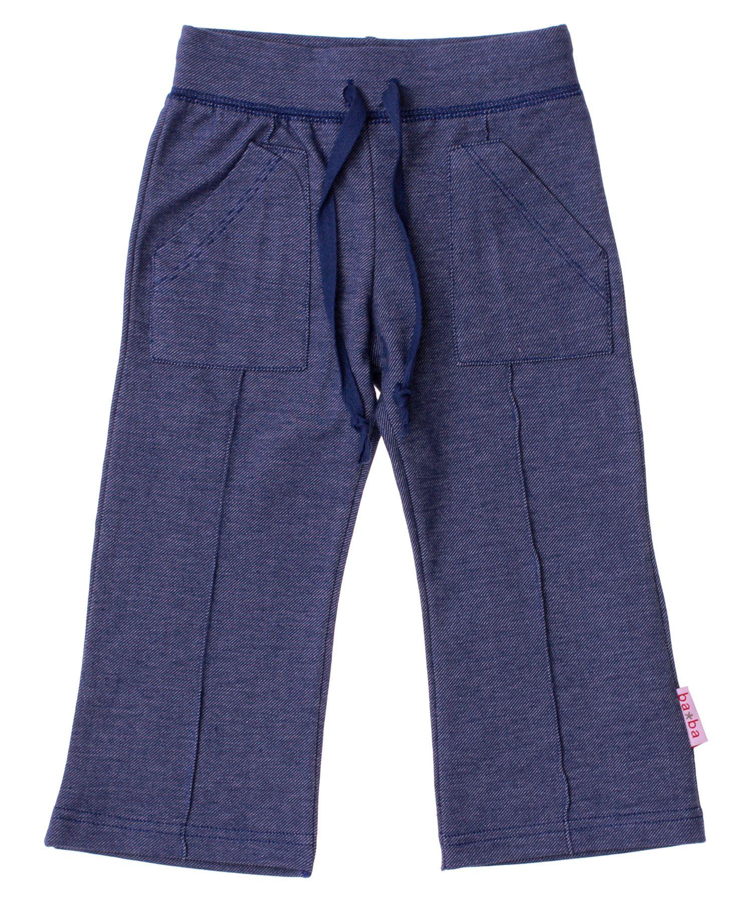 Baba Babywear mega hippe zacht blauwe stretch broek met zakken. baba-babywear.nl.emilea.be