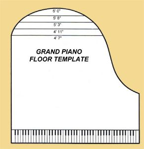 Baby grand piano template use the all new all in one for Smallest baby grand piano dimensions