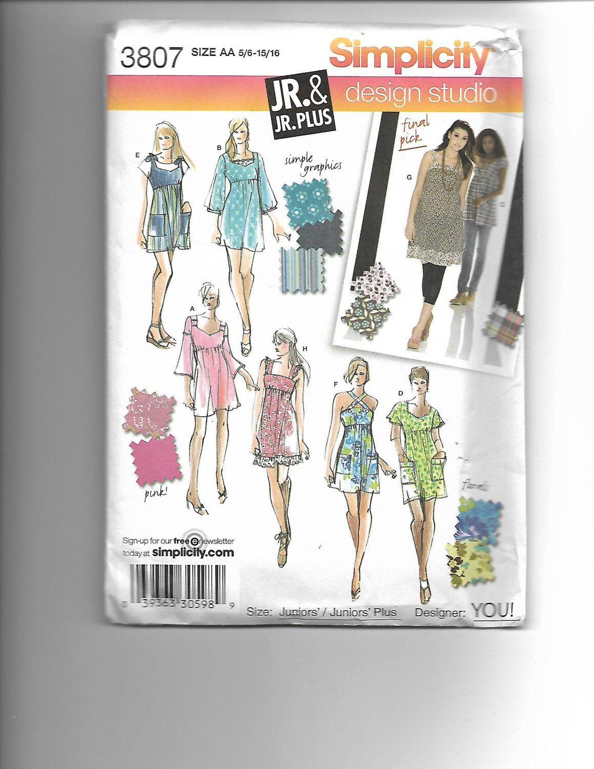 Simplicity 3807 by CraftingMoose on Etsy