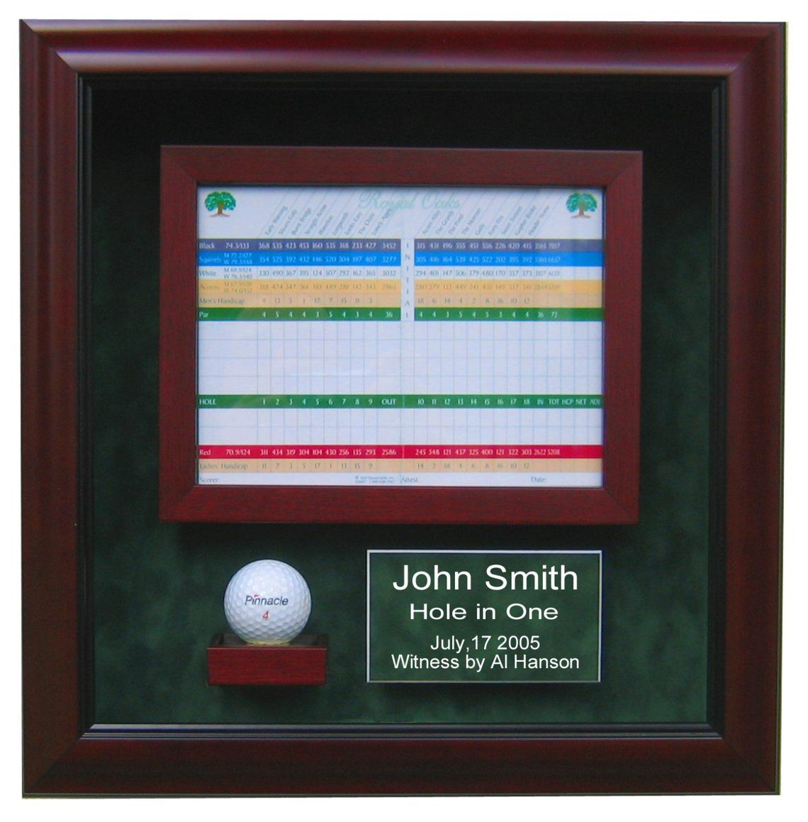 Hole In One Golf Display Case Golf Ball Display Case Custom Display Case Hole In One