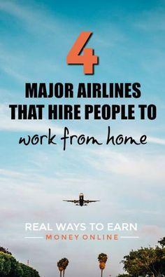 Four Major Airlines That Hire People to Work From Home | Job: Money