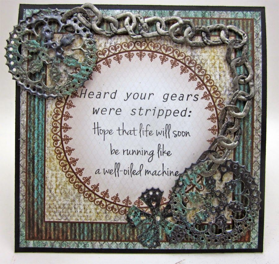 masculine get well card.... Heard Your Gears were Stripped by Lori Williams