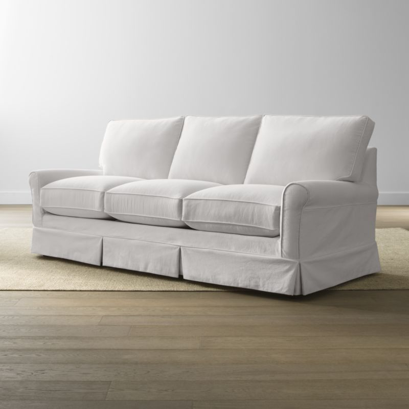 Harborside Slipcovered 3 Seat Sofa Crate And Barrel Cushions