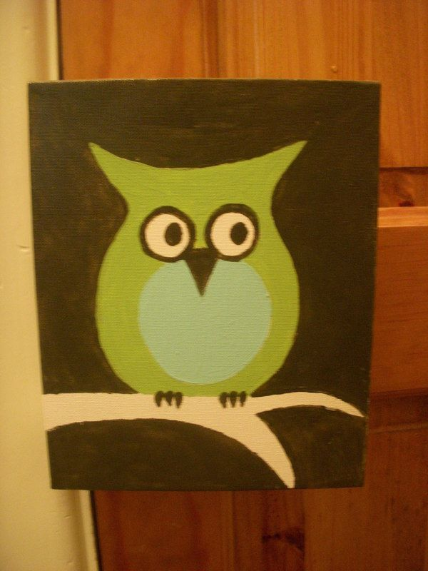 """Mr. Night Time"" The Owl Painting 