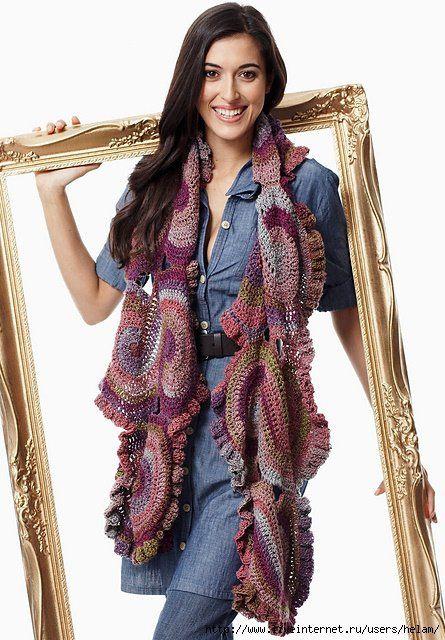 Patrón #566: Bufanda a Crochet #ctejidas http://blgs.co/449ej4