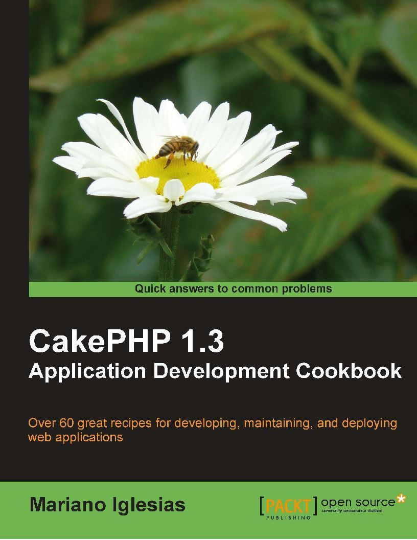 Cakephp 1 3 Application Development Cookbook Computer