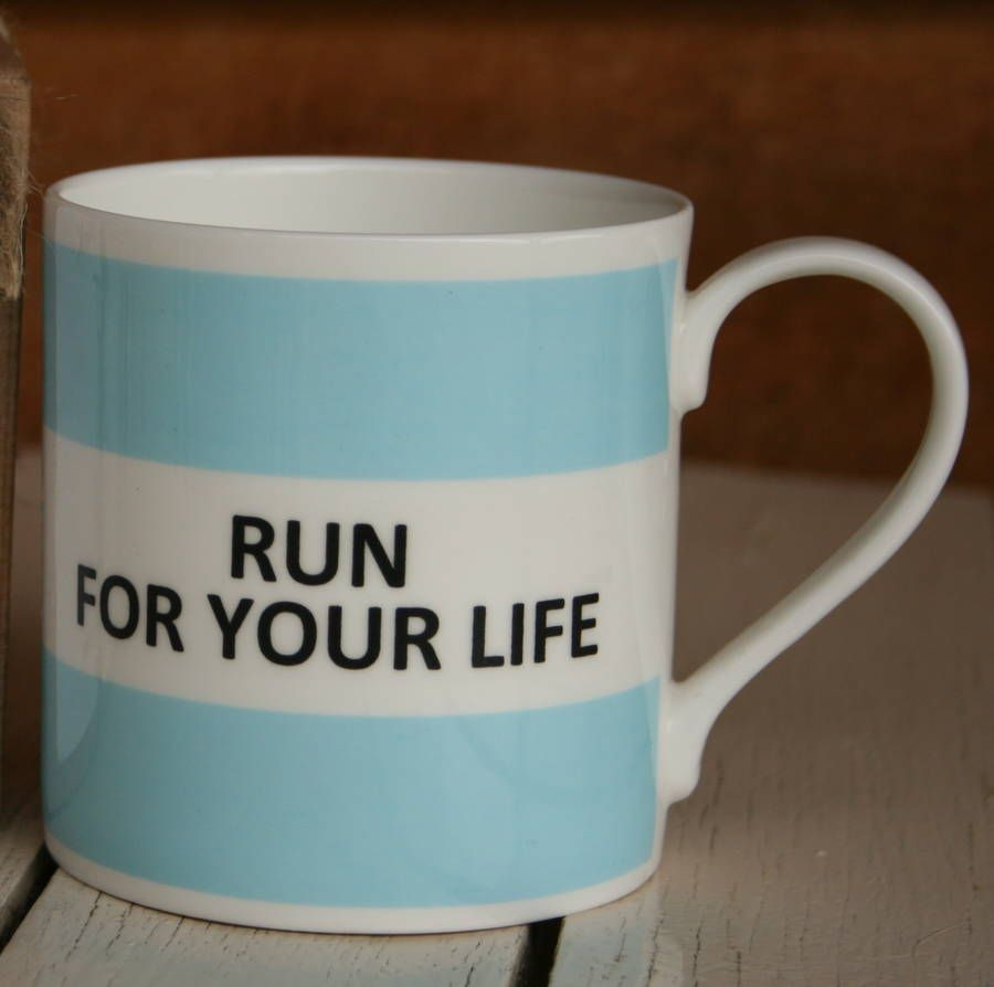 Are you interested in our Fine Bone China Running Mug? With our Sports Mug for Runner you need look no further.