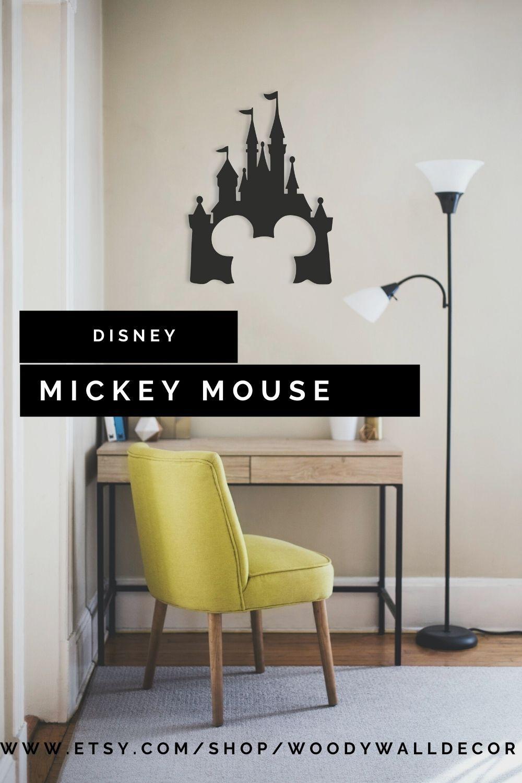 Disney Castle Wood Wall Art Geometric Mickey Mouse Wall Decor 3d Minimalist Nursery Wooden Hangi In 2021 Mickey Mouse Wall Decor Minimalist Nursery Mickey Mouse Wall