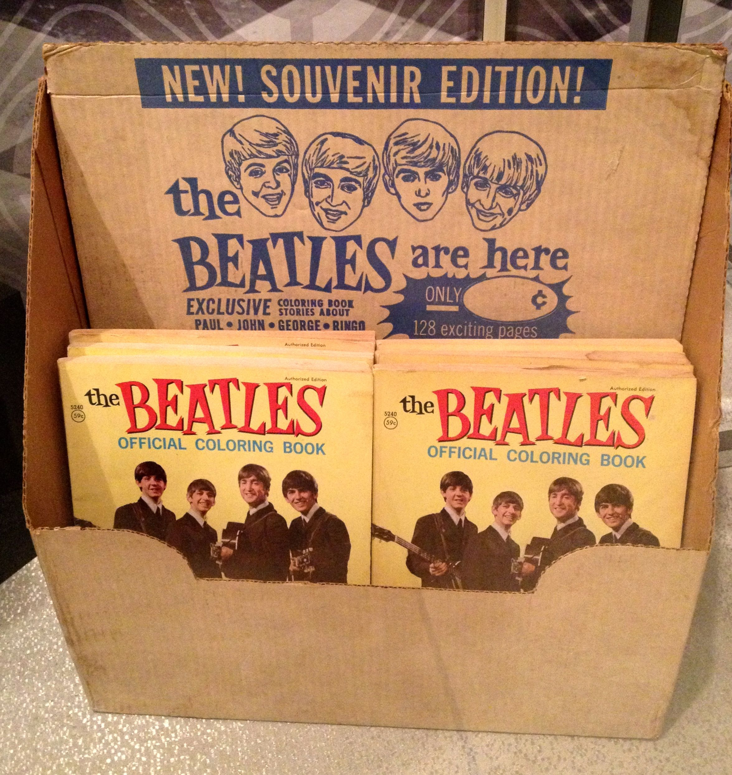 Original store display | Beatles Coloring Book | Pinterest | Store ...
