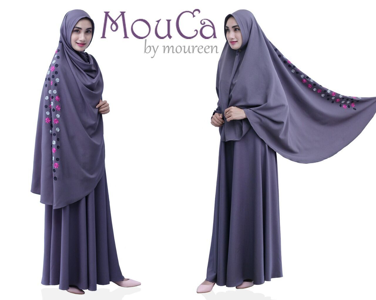 Jubah Dress Madam D *FAST SELLING* Code: JMD 02 Colour: Purple / Off ...