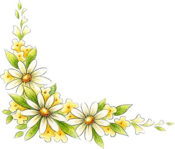 Yellow Flower Corner Border Boarders Pinterest Vorlagen Malen