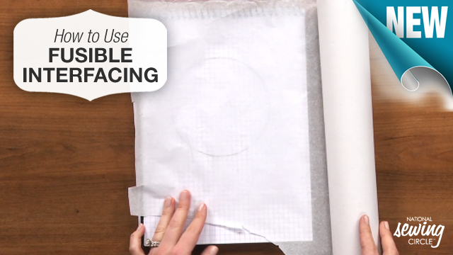 Learn an easy way to make your sewing patterns last longer by using lightweight fusible interfacing. >>> www.nationalsewingcircle.com/video/using-fusible-interfacing-to-make-patterns-last-longer  #NSC #learnmoresewmore