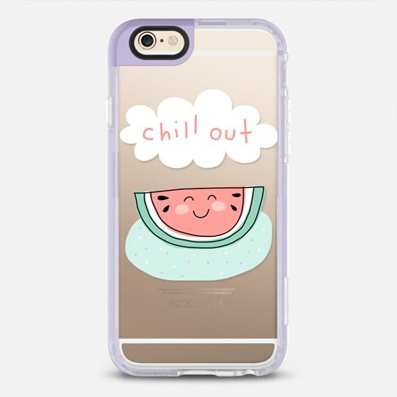 Chill Out - Watermelon - New Standard Case in Lavender Violet by Happy Cat Prints   @casetify