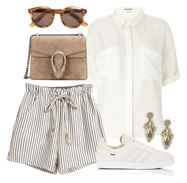 """""""Unbenannt #608"""" by vanileeeeeeen ❤ liked on Polyvore featuring Whistles, Gucci, adidas, Illesteva and ASOS"""
