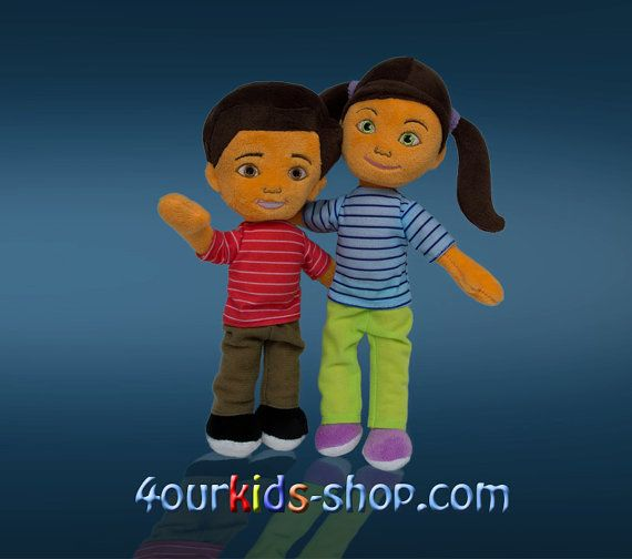 Caleb and Sophia plush dolls. You can buy the dolls in our web shop ...