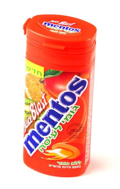 Mentos Juicy Blast Tropical Fruit Gum - 10CT Box • Mentos