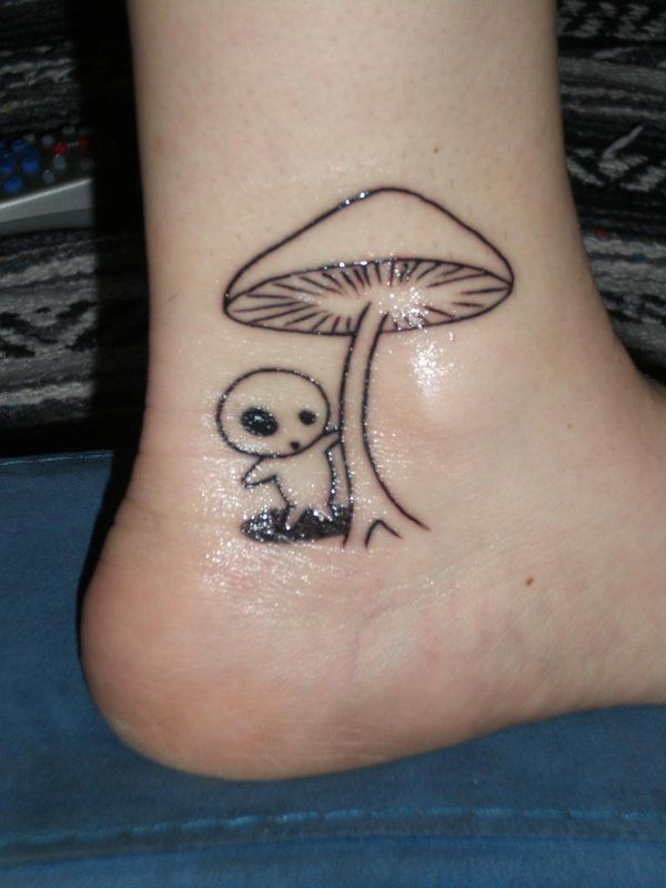 Black Line Art Mushroom Tattoo Ink Pinterest Tattoos