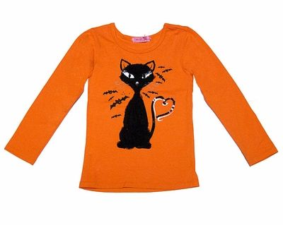 haven girl joyous free orange shirt with black halloween cat shirt ladies - Halloween Shirts For Ladies