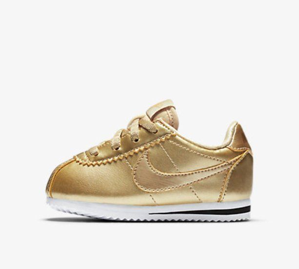 size 40 f8cdc 87a1d New Nike Baby Nike Cortez SE Toddlers Shoes (859572-900) Metallic Gold Star   Nike  Athletic