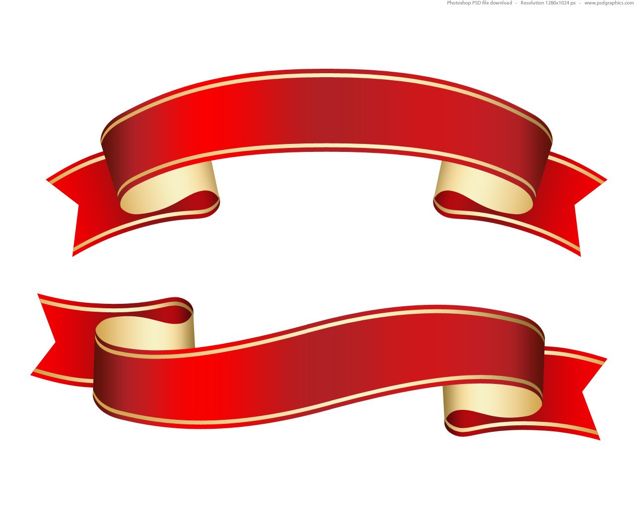 free psd clipart full size jpg preview curled red ribbon cards rh pinterest ca